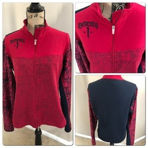 Unique Nike Full Zip Jacket Red and Black